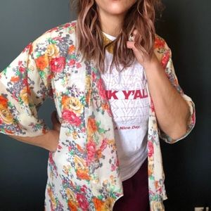 My Beloved Floral Short Sleeve Tunic for Women